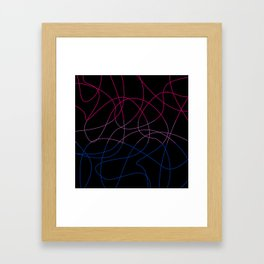 Abstract Threads – Bisexual Pride Flag Framed Art Print