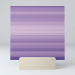 Pastel Ultra Violet Gradient Stripes Trendy Color of the year 2018 Mini Art Print