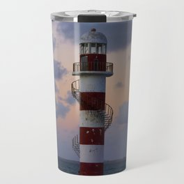 Lighthouse Cancun Travel Mug