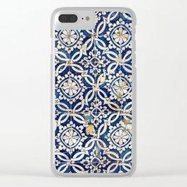 Portuguese glazed tiles Clear iPhone Case