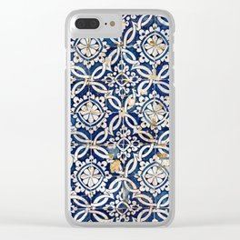 Portuguese glazed tiles Clear iPhone Case