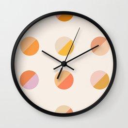 Abstraction_DOT_DOT_Colorful_Minimalism_001 Wall Clock