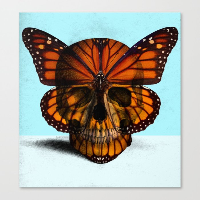 SKULL (MONARCH BUTTERFLY) Canvas Print