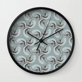 Tessellating monster pattern Wall Clock