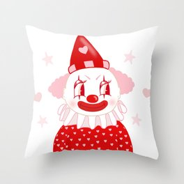 Poopywise the Clown Throw Pillow