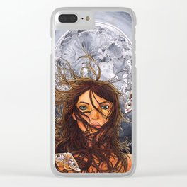 Saturnia pavonia Clear iPhone Case