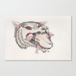 Sheep in Wolf's Clothing Canvas Print