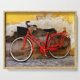 The Red Bicycle Serving Tray
