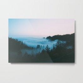 Foggy Marin Sunset Metal Print