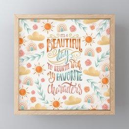IT'S A BEAUTIFUL DAY Framed Mini Art Print