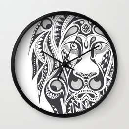 Lion | Abstract Digital Design Wall Clock
