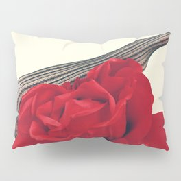 She's a Lady - Surreal Rose Portrait with Sexy Legs Pillow Sham