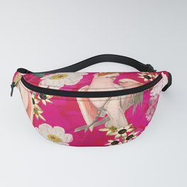 Vintage & Shabby Chic - Tropical Bird Flower Garden Fanny Pack
