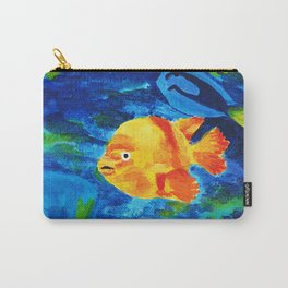 Tropical gold fish swimming in an aquarium Carry-All Pouch