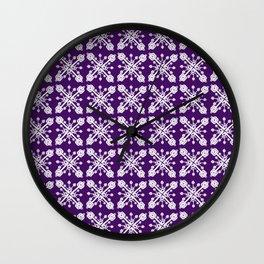 Key Pattern Purple Wall Clock