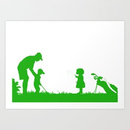 Father with their kids Art Print