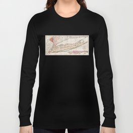 Long and Staten Island Map Long Sleeve T-shirt