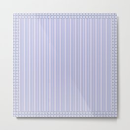 Pink-blue striped Metal Print