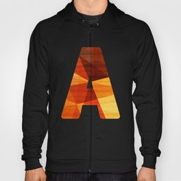 Letter A - Wooden Capital Typography Hoody