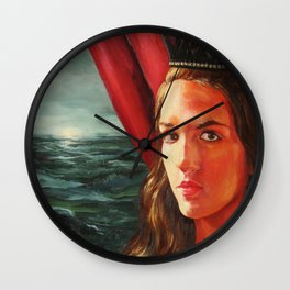 The Black Crown Wall Clock