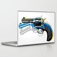 gun Laptop & iPad Skins featuring gun by mark ashkenazi