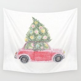 JOY ride- watercolor Wall Tapestry