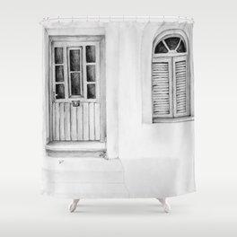 Greek Doorway Shower Curtain