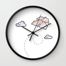 paperplane Wall Clock
