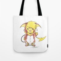 projectrocket Tote Bags featuring Spark of Brilliance by Randy C