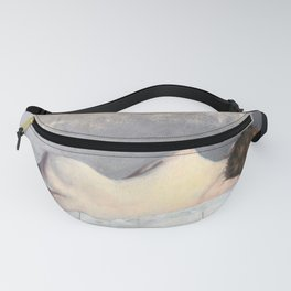 Soft Pastel Nude Female Oil painting of Woman Sleeping Fanny Pack