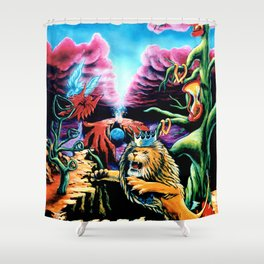 Trippy Psychedelic Visionary Art by Vincent Monaco -The Wrath Shower Curtain