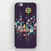 sunflower iPhone & iPod Skins featuring Sunflower by Jay Fleck