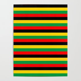 Biafra Mozambique Zambia flag stripes Poster