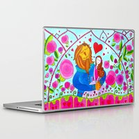 beauty and the beast Laptop & iPad Skins featuring Beauty and the Beast by Sandra Nascimento