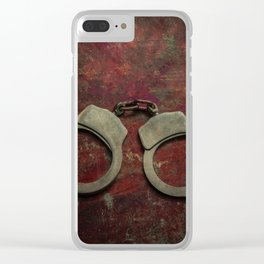 Rusty handcuffs Clear iPhone Case