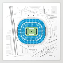 Stadium Traditions: The Panther's Lair (Bank of America Stadium) Art Print