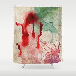 Green & Red Color Splash Shower Curtain