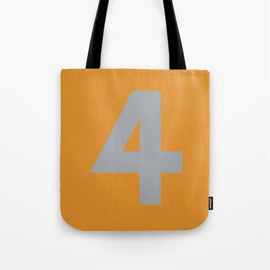 Number 4 Tote Bag