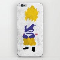 goku iPhone & iPod Skins featuring Goku SSJ by JHTY