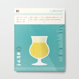 Belgian Beer Art Print Metal Print