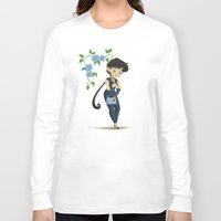 transistor Long Sleeve T-shirts featuring Retro Sailor Star Fighter by Crimson Pumpkin