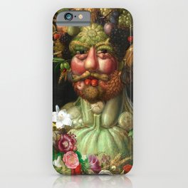 Rudolf II as Vertumnus by Giuseppe Arcimboldo, 1591 iPhone Case