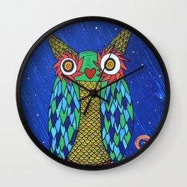 Owl in the Night Wall Clock