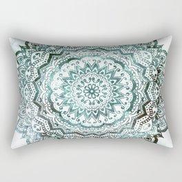 Emerald Jewel Mandala Rectangular Pillow
