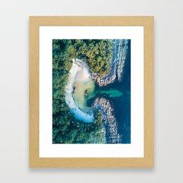 Honeymoon Beach, Australia Framed Art Print