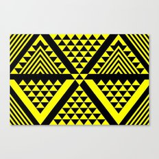 Black & Yellow Canvas Print