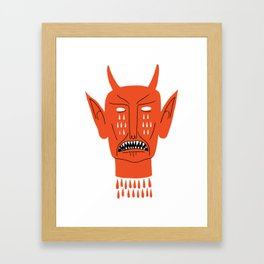 Devil's Head Framed Art Print