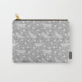 Arctic Space Narwhale Black and White Carry-All Pouch
