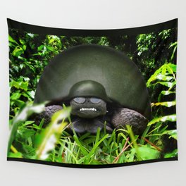 Slow Commando - Army Turtle Wall Tapestry