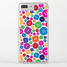 Buttons everywhere Clear iPhone Case